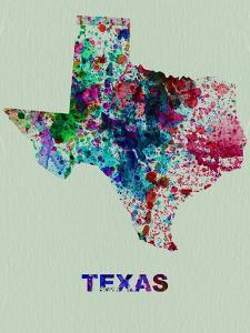 Texas Color Splatter Map by NaxArt