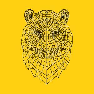 Tiger Head Yellow Mesh by NaxArt