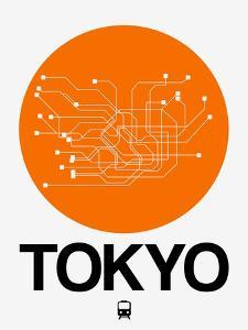 Tokyo Orange Subway Map by NaxArt