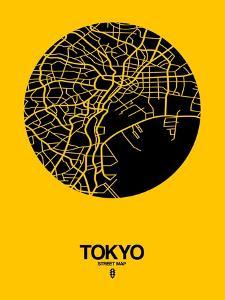 Tokyo Street Map Yellow by NaxArt