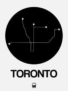 Toronto Black Subway Map by NaxArt