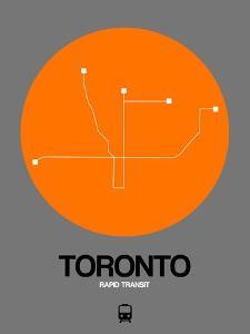 Toronto Orange Subway Map by NaxArt
