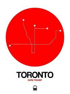 Toronto Red Subway Map by NaxArt