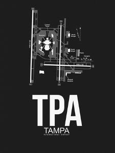 TPA Tampa Airport Black by NaxArt