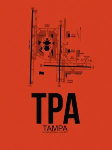 TPA Tampa Airport Orange by NaxArt