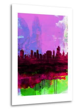 Tulsa Watercolor Skyline 2