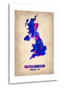 United Kingdom Watercolor Map by NaxArt