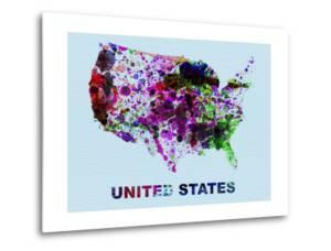 United States Color Splatter Map by NaxArt