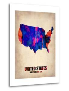 Usa Watercolor Map 1 by NaxArt