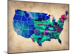 Usa Watercolor Map 3 by NaxArt