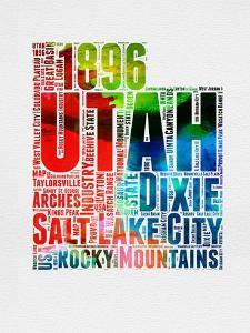 Utah Watercolor Word Cloud by NaxArt