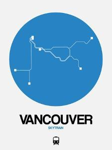 Vancouver Blue Subway Map by NaxArt