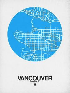 Vancouver Street Map Blue by NaxArt