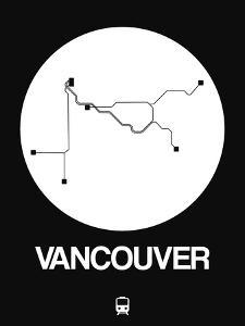 Vancouver White Subway Map by NaxArt