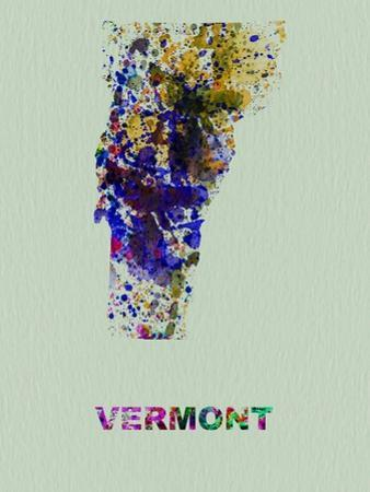 Vermont Color Splatter Map by NaxArt