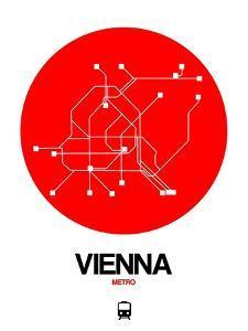 Vienna Red Subway Map by NaxArt