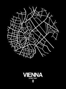 Vienna Street Map Black by NaxArt
