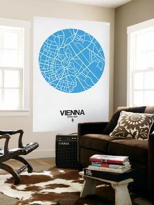 Vienna Street Map Blue by NaxArt