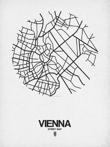 Vienna Street Map White by NaxArt