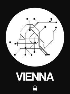 Vienna White Subway Map by NaxArt