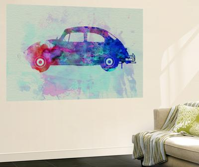 VW Beetle Watercolor 1