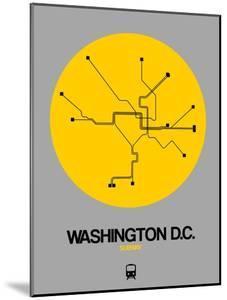 Washington D.C. Yellow Subway Map by NaxArt