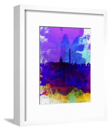 Washington DC Watercolor Skyline 2