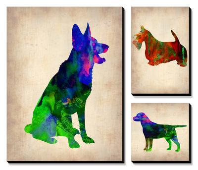 Watercolor Dogs by NaxArt