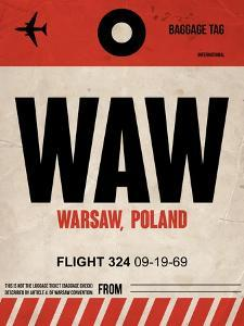 WAW Warsaw Luggage Tag I by NaxArt
