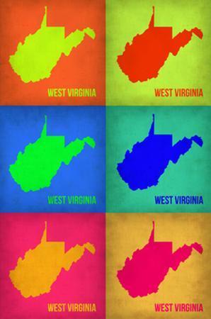 West Virginia Pop Art Map 1 by NaxArt