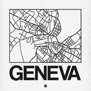 White Map of Geneva by NaxArt