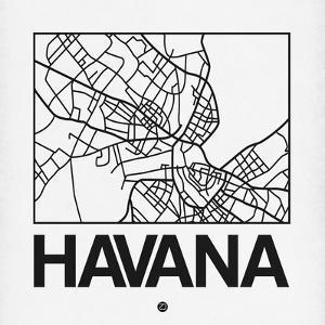 White Map of Havana by NaxArt