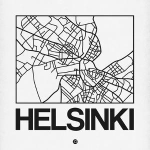 White Map of Helsinki by NaxArt