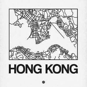 White Map of Hong Kong by NaxArt