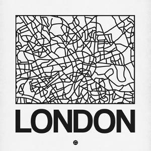 White Map of London by NaxArt