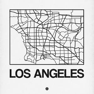 White Map of Los Angeles by NaxArt
