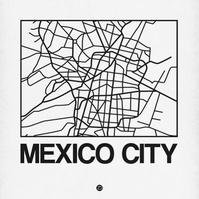 White Map of Mexico City by NaxArt