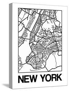 Maps of new york canvas artwork for sale posters and prints at white map of new yorknaxart malvernweather Images
