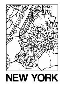 White Map of New York by NaxArt
