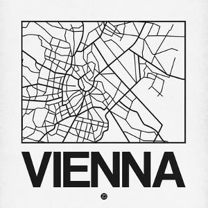 White Map of Vienna by NaxArt
