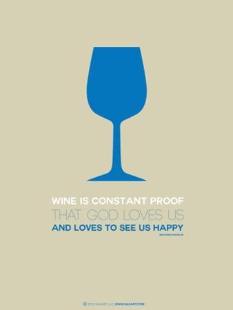 Wine Poster Blue