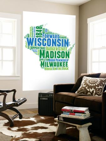 Wisconsin Word Cloud Map