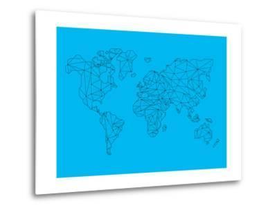 World Map Blue 1
