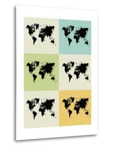 World Map Grid Poster by NaxArt