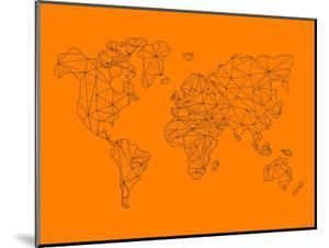 World Map Orange 2 by NaxArt