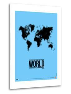 World Map Poster by NaxArt