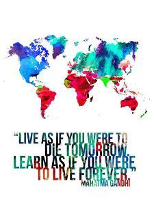 World maps giclee prints artwork for sale photos and prints at art world map quote mahatma gandinaxart gumiabroncs Images