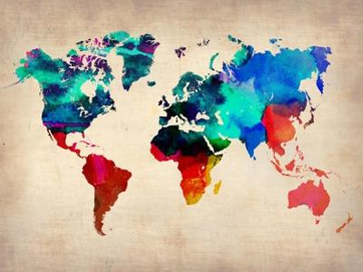 World Watercolor Map 1 by NaxArt