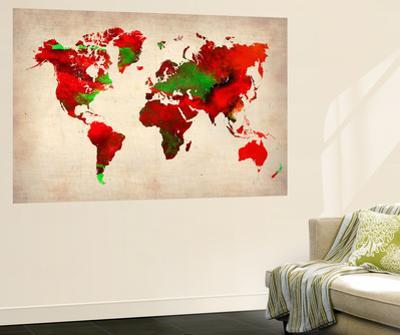 World Watercolor Map 4