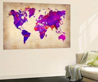 World Watercolor Map 5